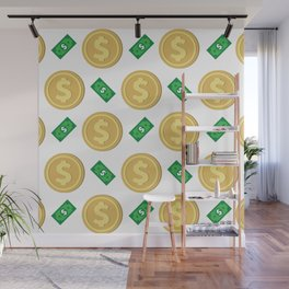 Dollar pattern background Wall Mural