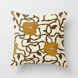 Wavy Nouveau Throw Pillow