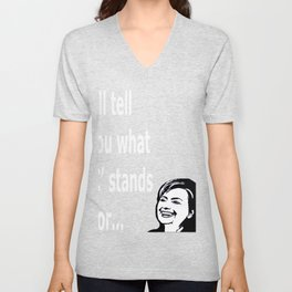 Hill Clint funny t-shirt shirt funny politics Unisex V-Neck