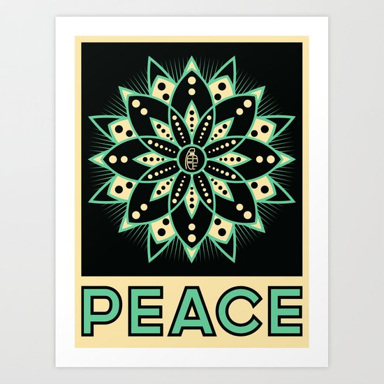Peace Tile Print Art Print