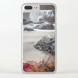 Fall at Middle Falls Clear iPhone Case