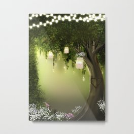 Enchanted Forest Heart Tree Metal Print