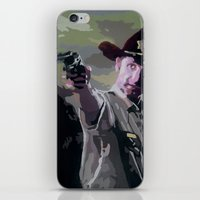 rick grimes iPhone & iPod Skins featuring Rick Grimes by Processed Image