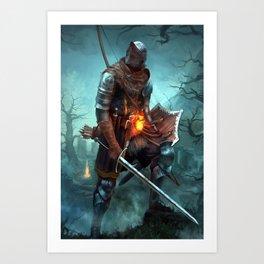Dark Souls Pixel Bonfire Art Print