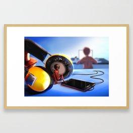 Music fairy Framed Art Print