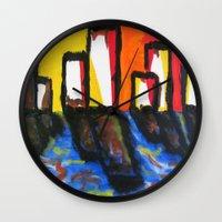 depression Wall Clocks featuring Depression Begins by Greg Mason Burns