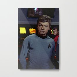 Doctor Leonard McCoy of TOS Metal Print