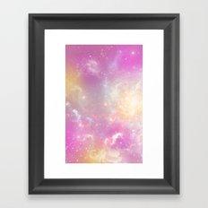 Pink Galaxy Framed Art Print