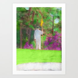 The Masters Golf Tournament - Golf Caddie - Augusta National Art Print