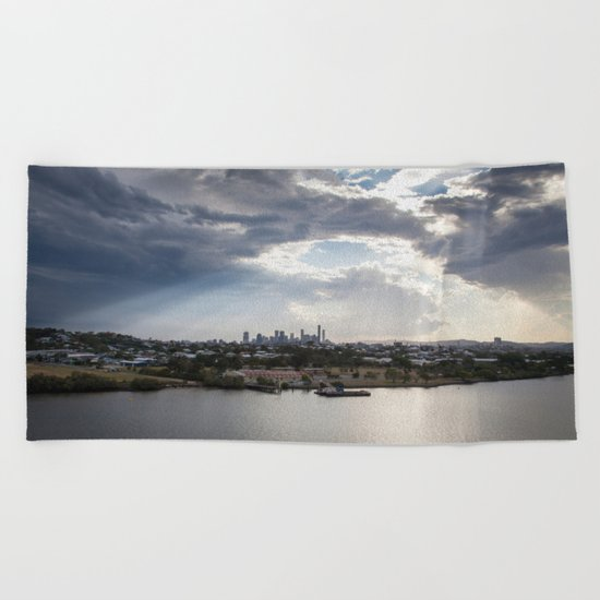 Shine on Brisbane Beach Towel