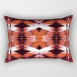 Watercolor Ikat Spice Rectangular Pillow