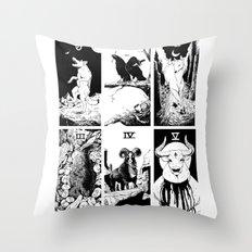 Tarot 0-5 Throw Pillow