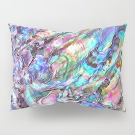 Shimmery Rainbow Abalone Mother of Pearl Pillow Sham
