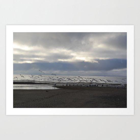 The Seagulls Art Print