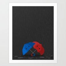 Blue&Red Art Print