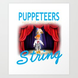 Puppet Master Puppetry Design Design Graphic Art Print