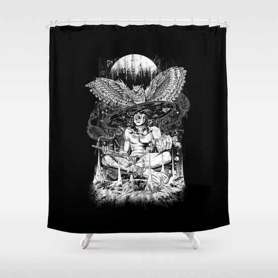 Spirit Owl Shower Curtain