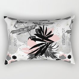 Abstract doodle nature Rectangular Pillow