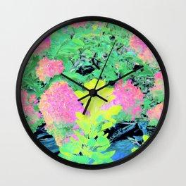 Fluorescent Golden Smoke Tree Garden Wall Clock