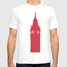 Architecture - Big ben White Mens Fitted Tee MEDIUM