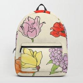 9 flowers Backpack