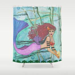 The Sea Sphere Shower Curtain
