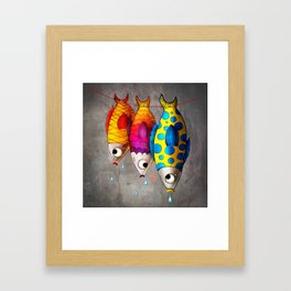 Fish Sale Framed Art Print