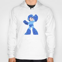 megaman Hoodies featuring Megaman by Megan Yiu