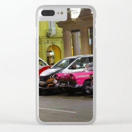 Cars in Old Havana Clear iPhone Case