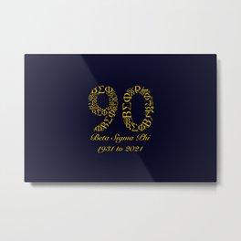 ΒΣΦ 90th on blue (BSP) Metal Print