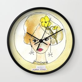 Rock Rose - Fish- Zodiac sign Wall Clock