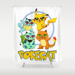 Pokecat Shower Curtain