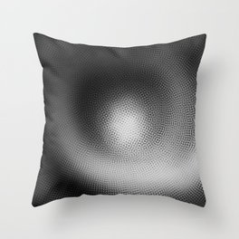 B&W Particle Spiral Throw Pillow