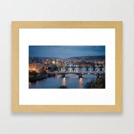Prague Cityscape Framed Art Print