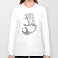 siren Long Sleeve T-shirts featuring Siren  by Jo Sharp