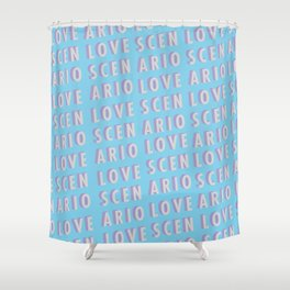 Love Scenario - Typography Shower Curtain