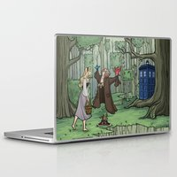hallion Laptop & iPad Skins featuring Visions are Seldom all They Seem by Karen Hallion Illustrations