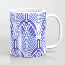 Nouveau,art deco, blue,white,vintage,pattern,elegant,chic,modern, trendy Coffee Mug