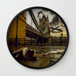 Time Fall Wall Clock