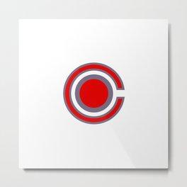 Cyber Man Logo Metal Print
