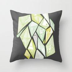 green diamonds Throw Pillow