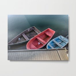 Three Skiffs Metal Print