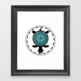 Onyx Turtle Framed Art Print
