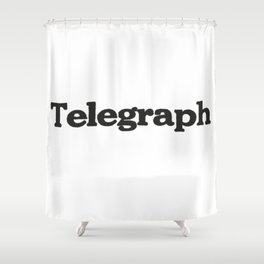 Telegraph Shower Curtain
