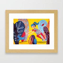 Kittycat is running wild Framed Art Print
