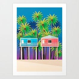 Palolem Beach Huts Art Print