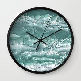 Marine color wash drawing painting Wall Clock
