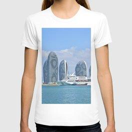 China Cruise liner Hainan, Superstar Aquarius, Sanya Bay, Phoenix Island Sea Hotel ship Cities Ships T-shirt