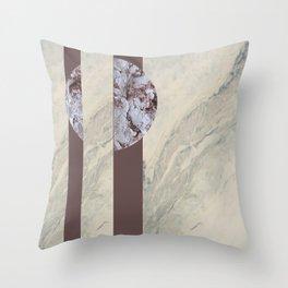 geometric marble Throw Pillow