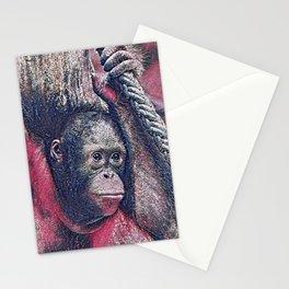 GlitzyAnimal_OrangUtan_002_by_JAMColors Stationery Cards